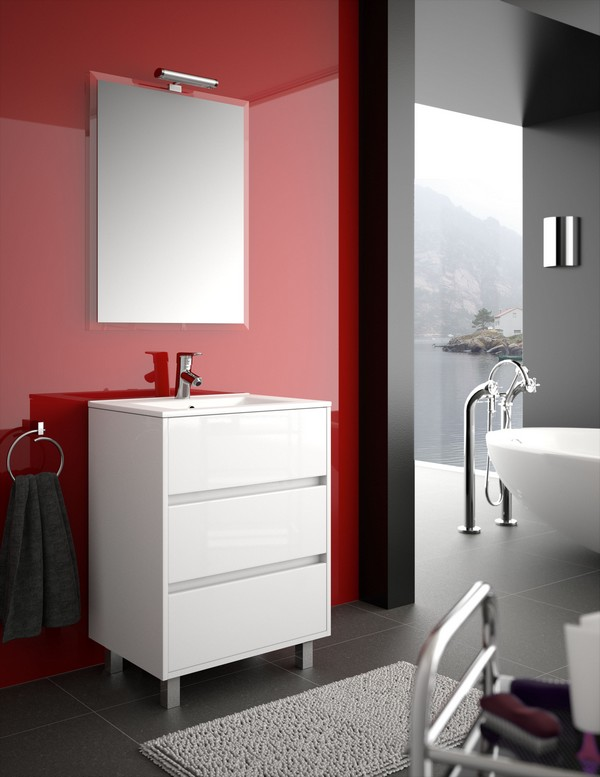 Salle de bains mon carrelage en ligne discount for Meuble salle de bain 80 cm pas cher