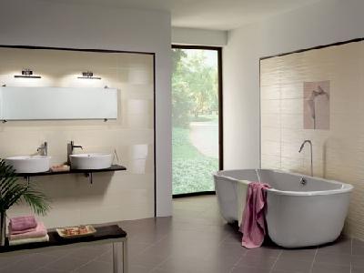 faience salle de bain dom - serie millerighe plane 20x50.2 1 ... - Salle De Bain Sans Faience