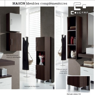 meuble colonne de salle de bain coycama s rie mahon 120. Black Bedroom Furniture Sets. Home Design Ideas