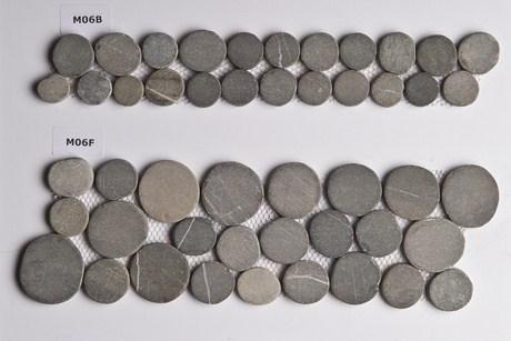 Frises galets plats moon 11x33 star mosa c carrelage for Carrelage galet plat