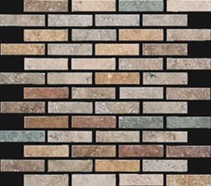 MOSAICO 2X7.2 MIX SCURO 30X30 - Boite de 6 Pcs