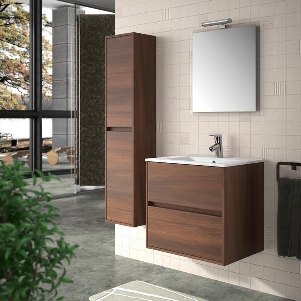 Meuble de salle de bain SALGAR - série Noja 70 cm Carrelage Meuble ...