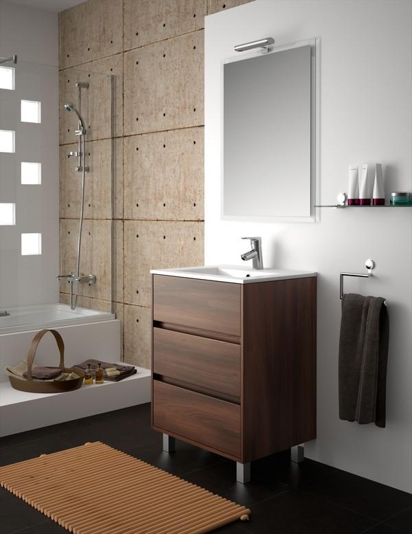 meuble de salle de bain salgar s rie arenys 60 cm carrelage salle de bain marron - Meuble Salle De Bain Marron