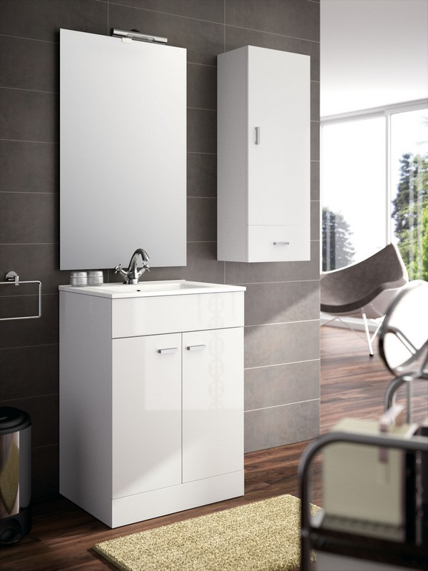 Meuble de salle de bain salgar s rie motril 60 cm for Baignoire profondeur 60 cm
