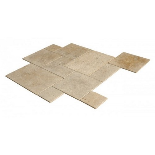 Travertin beige vieilli opus 4 formats choix commercial for Carrelage opus