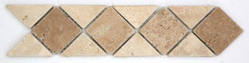 TRAVERTIN NOCE/TRAVERTIN BEIGE 28.5X12X1 CM