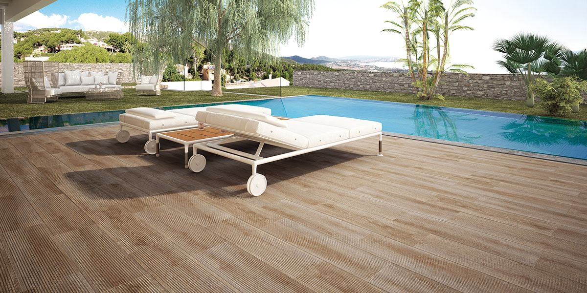 Carrelage ECOCERAMIC - série rainforest deck 22x85 1° choix