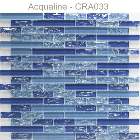 Mosaique Verre Craquelee Plaque 298x305 Acqualine Carrelage Mosaique Verre Pierre Metal Acqualine Galets Mosaique Verre Pierre Metal