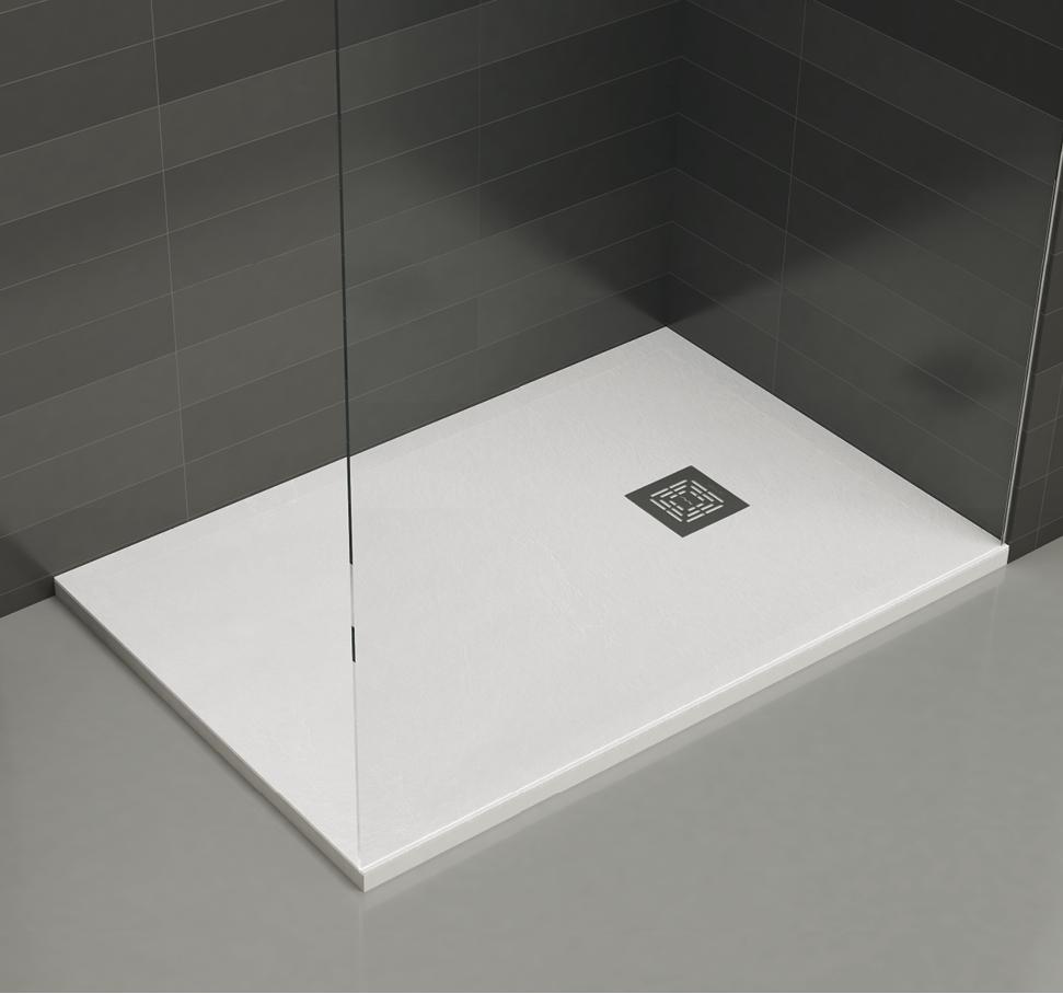 receveurs de douche st one extraplats 100 mundilite. Black Bedroom Furniture Sets. Home Design Ideas