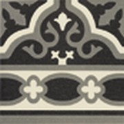 DECOR 20X20 CENEFA FLORENTINE BLACK
