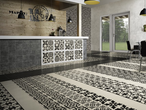 Carreaux ciment carrelage int rieur sol mon for Faience carreaux de ciment cuisine