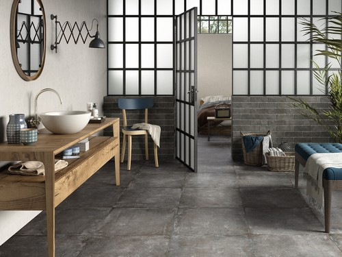 Carrelage CISA CERAMICHE - serie remix 60x60 rett grip. 1° choix - Photo principale