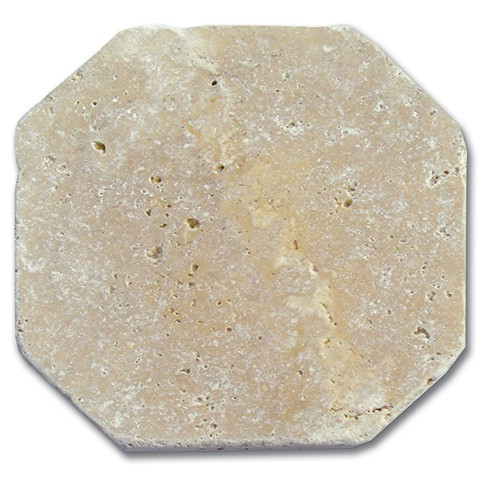 Travertin beige vieilli octogonal 15x15x1 cm 1°choix  - Photo principale