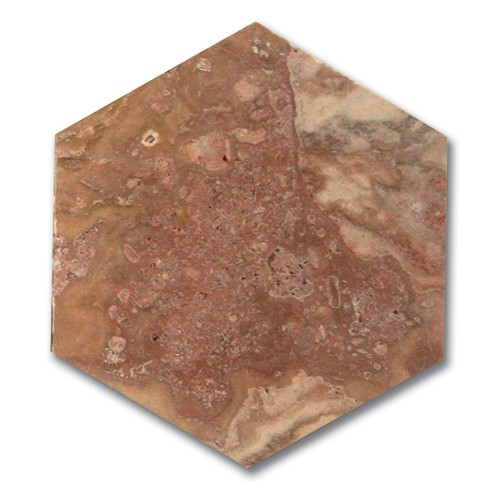 TRAVERTIN HEXAGONAL 15X15X1 CM 1° CHOIX