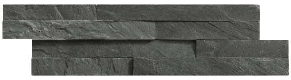 Parement Slim Brick black 10 x 40. épaisseur de 1 à 4 cm